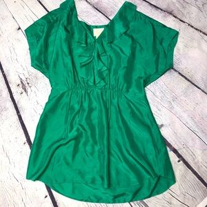 Vanessa Virginia Cressida Ruffle Front Silk Blouse